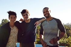 Harry Shum Jr., Matthew Daddario & Isaiah Mustafa #Shadowhunters