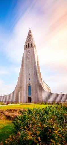 Iglesia Hallgrimskirkja en Reykjavik, Islandia |
