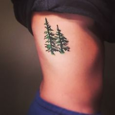 I would probably get the roots of the trees done too for Evergreen tree tattoo