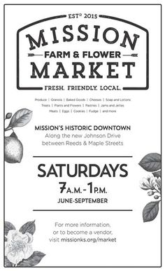 Mission Farmers Market Poster