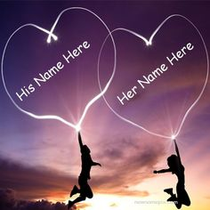 Beautiful Love Hearts Pair Couple Name Pictures - Romantic Name Pics