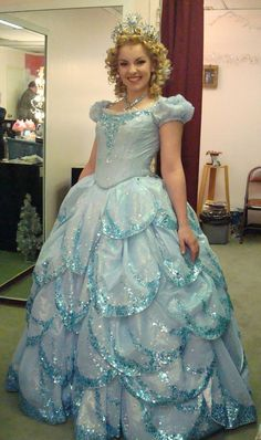Galinda Bubble Dress backstage...found this on Pinterest!!! Hahaha