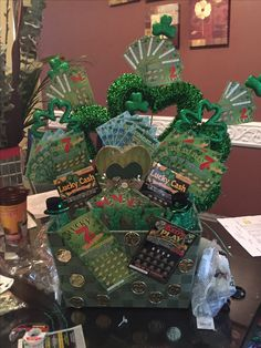 St Patrick's day basket good raffle for a silent auction