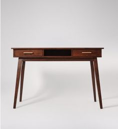 The Watts mid-century style desk is perfect for the home office. Celebrate artisan making at Swoon, hand-crafted designs without the inflated price tag. Table Desk, Dining Table, Contemporary Desk, Mid Century Style, Modern Table, Minimalist Home, Design Crafts, Home Accessories, Interior Decorating