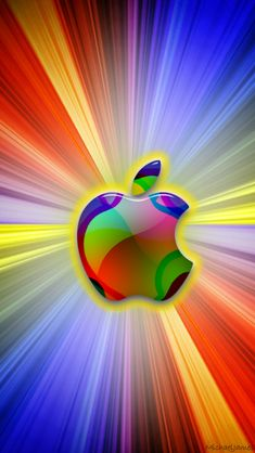 Download Cosmic Apple 640 x 1136 Wallpapers - 4204848 - Apple Cosmic Space Colorful | mobile9