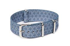 Indigo Sashiko printed nato watch strap - Knottery NY