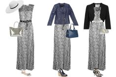 maxi dress worn 3 ways x