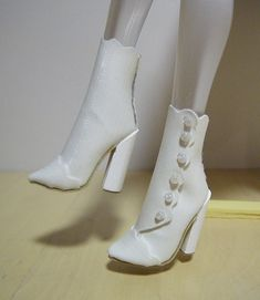 Fashion Doll Shoes: Another pair of ankle boots tutorial