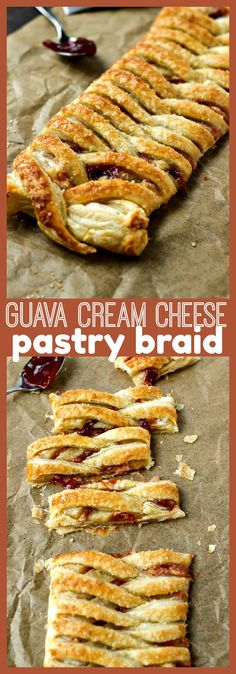 Guava Cream Cheese Pastry Braid - CPA: Certified Pastry Aficionado Guava Cream Cheese Pastry Braid – Puff pastry dough is filled with whipped cream cheese and guava jelly and then braided to give this traditional Latin pastry an upgrade. Guava And Cream Cheese, Cream Cheese Puff Pastry, Rough Puff Pastry, Puff Pastry Dough, Whipped Cream Cheese, Flaky Pastry, Puff Pastry Recipes, Tart Recipes, Best Dessert Recipes