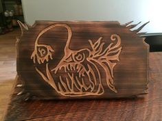 Hand Carved Deep Sea Angler Fish by Bobby from Pacific Elements  www.pacificelementsnw.com
