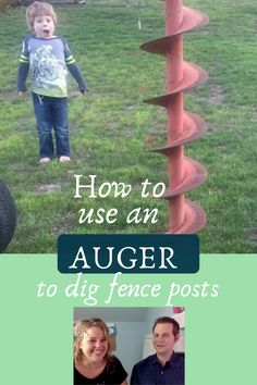 How to use an auger to dig fence posts is a great budget-friendly tutorial.  Using an auger and figuring out how to get this rental equipment home was a small hurdle.  The one man auger was the perfect piece of machinery to help us dig fence posts quickly and efficiently for this DIY project.  Having a How To Tutorial to help the backyard makeover go smoothly is awesome.  At PinkToolGirl.com we love a great budget-friendly makeover and enjoy helping you with your weekend project.