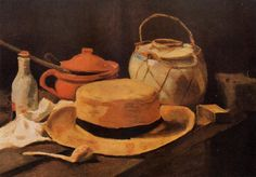 VINCENT VAN GOGH - Still Life with Yellow Hat (1885)