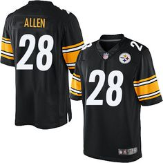 Pittsburgh Steelers Cortez Allen Men s Limited Black Nike Jersey -  28 NFL  Home Hamilton 8e495ffa8
