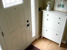 another hemnes view - i like how it has one regular drawer at the top and shoe drawers underneath