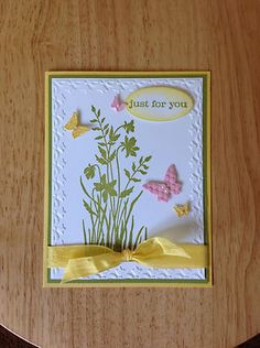 Handmade birthday, all occasion Card kit -just for u-md w/ mostly stampin up pro