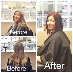 Before and after shots of one of our wonderful clients. This beautiful look was done by our extremely talented stylist, Rachel!  Call 604-852-2228 to book your appointment today!  www.abbotsfordspa.ca info@abbotsfordspa.ca 100-32868 Ventura Ave. Abbotsford, B.C.
