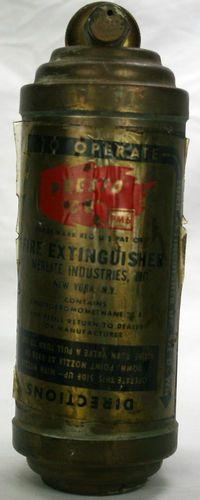 Vintage Brass Presto CB PM6 Motorcycle Fire Extinguisher Merlite (Empty)