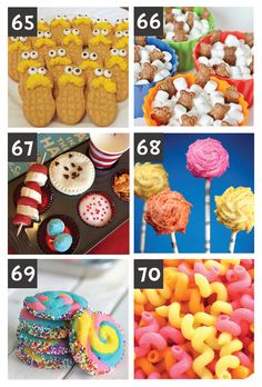 Seuss Ideas- including Dr Seuss inspired snack and food ideas! Dr Seuss Party Ideas, Dr Seuss Birthday Party, Boy Birthday, Classroom Party Ideas, Dr Seuss Baby Shower Ideas, Birthday Ideas, Dr. Seuss, Dr Seuss Week, Dr Seuss Snacks
