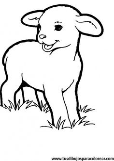 Lamb coloring pages Farm Animal Coloring Pages, Cool Coloring Pages, Adult Coloring Pages, Coloring Pages For Kids, Coloring Books, Animal Paintings, Animal Drawings, Farm Quilt, Rock Painting Designs