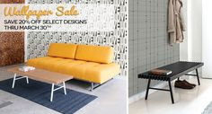 Wallpaper Sale - Get 20% off select Bobby Berk Home Wallpaper designs now thru March 30th!