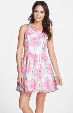 Lilly+Pulitzer®+'Darcelle'+Embroidered+Organza+Fit+&+Flare+Dress+available+at+#Nordstrom