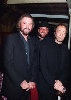 UNITED KINGDOM - SEPTEMBER 01: Barry,maurice And Robin Gibb At Barry Gibb's 50th Birthday In London