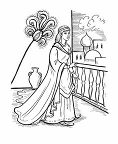 Mystery Of History I MOH Lesson 74 Esther Coloring Page For Notebook