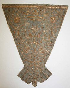 Stomacher  Date: 18th century Culture: British Medium: silk, straw Dimensions: [no dimensions available] Credit Line: Purchase, Irene Lewisohn Bequest, 1970 Accession Number: 1970.106.3  http://www.metmuseum.org/Collections/search-the-collections/80055792?rpp=60=1=20120823=*=8=A.D.+1600-1800=24#