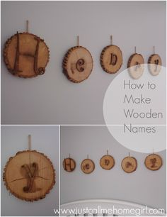 Wooden Names You can Use in A Nursery! Natural Elements
