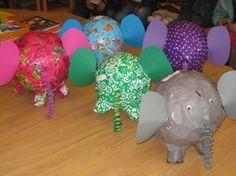 www.jufjanneke.nl | Elmer de olifant Craft Activities For Kids, Projects For Kids, Crafts For Kids, Arts And Crafts, Games For Fun, Tier Zoo, Elmer The Elephants, Elephant Crafts, Classroom Themes