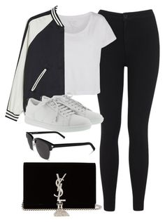 """""""Sin título #13748"""" by vany-alvarado ❤ liked on Polyvore featuring Miss Selfridge, Pieces, Monki and Yves Saint Laurent"""