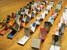 mini akardeona grāmatiņa sērkociņu kastītē | accordion book in a box