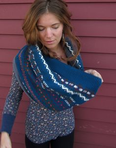 Winter Blues Fair Isle Pattern Sweater by MountainGirlClothing, $30.00