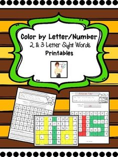 These printables allow students to practice number and letter recognition as they discover the sight word.  There are 80 different sight words either 2-letter or 3-letter words.  After finishing the code, students write the sight word they made.  Some printables also allow the students to write that word in a complete sentence.