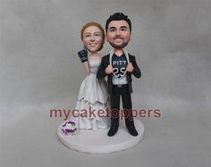 custom wedding Cake toppers bride and groom by dealeasynet on Etsy, $120.00