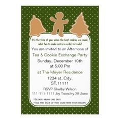 Holiday Cookie Exchange Invite with recipe card #Christmas #Holidays