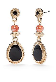Ruby Rd Gold-Tone Gypsy Caravan Teardrop Earrings - Belk.com