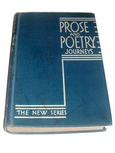 SALE Vintage 1939 1st Edition Book  Prose and by DrapersPapers, $4.00