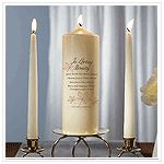 Autumn Leaf Memorial Pillar Candle: ForeverWed, Wedding Favors