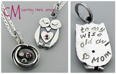 Sweet mother and daughter pendants with a special message.
