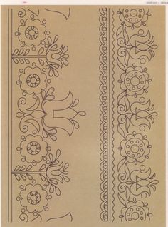 Gallery.ru / Фото #100 - Словенска людова вишивка - tanytryell Hungarian Embroidery, Embroidery Motifs, Learn Embroidery, Vintage Embroidery, Embroidery Designs, Chain Stitch, Cross Stitch, Stencil, Ethno Design