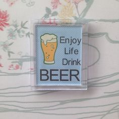 This is another one of my new fridge magnet designs.  Great gift for those who enjoy a beer!