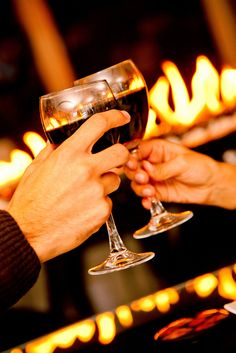 A toast to us and to the fire of life.
