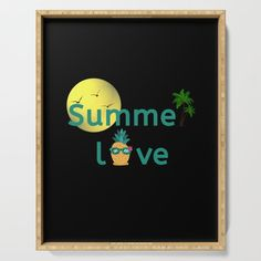 Summer Love Vibes Palms Pineapple Sun Serving Tray by Pineapple Palm Tree, Bathroom Organisation, Serving Trays, Plant Holders, Summer Of Love, Declutter, Platter, Palm Trees, Eco Friendly