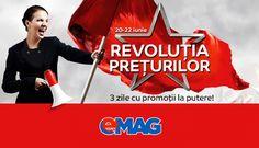 Maine dimineata incepe Revolutia Preturilor la eMAG, editia cu numarul doi din acest an unde sunt promise reduceri de pana la 50%.