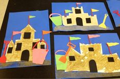 sandcastle collage-elementary art-Art with Mr. Giannetto Blog