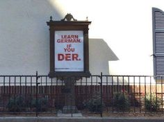Learn German If You Der!