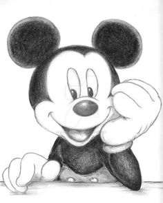 X 11 Inch Pencil Drawing On Smooth Bristol Paper Mickey Mouse