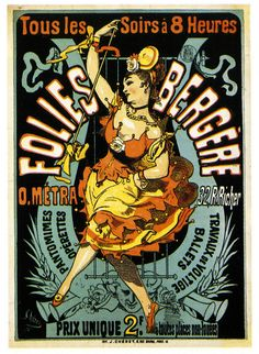 The Folies Bergere - every night at eight (1876).