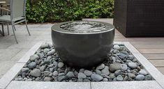 water-bowl and pebbles